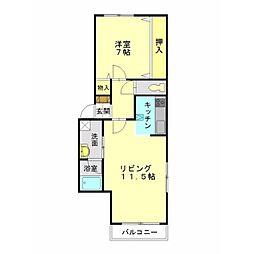 北海道函館市末広町の賃貸アパートの間取り
