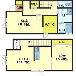 北海道函館市本町の賃貸アパートの間取り