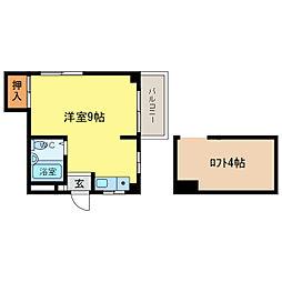 エスタシオン二軒屋[3階]の間取り