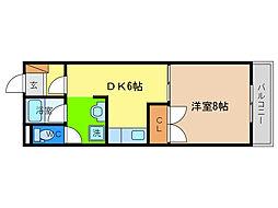 さやか第1ビルディング[2階]の間取り