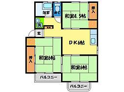 城南ハイム[2階]の間取り