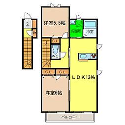 シャルマン高洲II[2階]の間取り