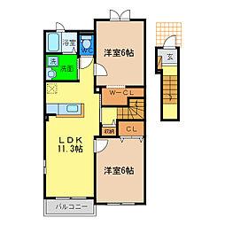 ワンピースII[2階]の間取り