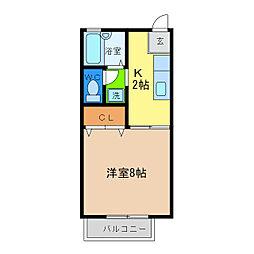 セザール昭和[1階]の間取り