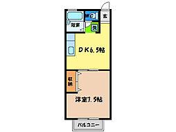 カサビエント新浜A[1階]の間取り