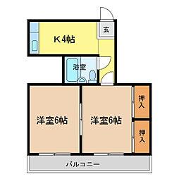 セグラ南昭和[4階]の間取り