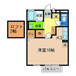 サンセリエ昭和[2階]の間取り