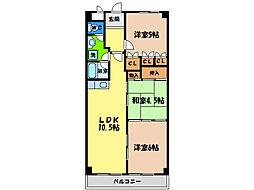 第16柴田マンション[5階]の間取り