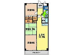 第17柴田マンション[2階]の間取り