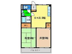 プレジデントハイツ新浜[3階]の間取り