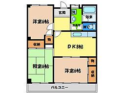 アクティ津田[3階]の間取り