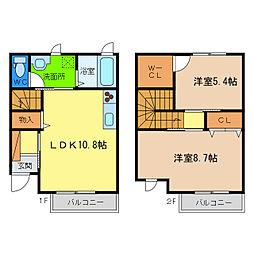 [テラスハウス] 徳島県徳島市西新浜町1丁目 の賃貸【/】の間取り