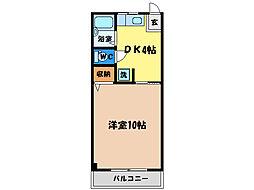 水口マンション[1階]の間取り