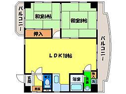 サンライト富田橋[7階]の間取り