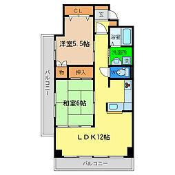 第3コーポ浜田[2階]の間取り