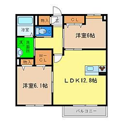 ベレオAKUI[2階]の間取り