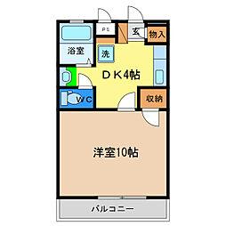 セリオン富田橋[3階]の間取り
