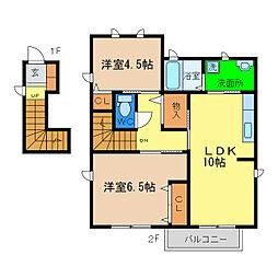 シャーメゾンサンシュユ[2階]の間取り