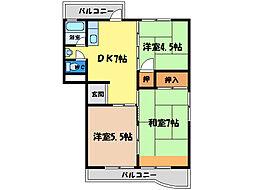 豊川コーポ[3階]の間取り