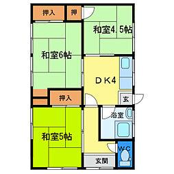 [一戸建] 徳島県徳島市八万町下千鳥 の賃貸【/】の間取り