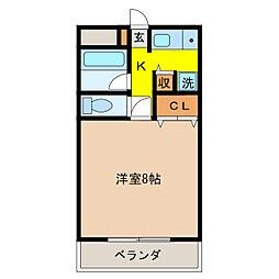 レジデンス徳島[1階]の間取り