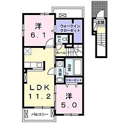 キア・オラナ[2階]の間取り