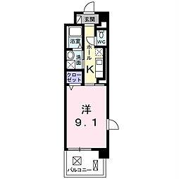 エルハーベン山城[4階]の間取り