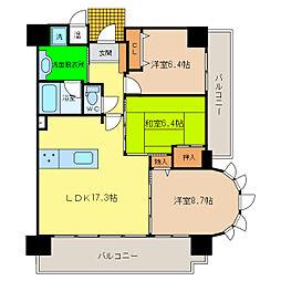 アビタシオン沖浜ラディアンス[12階]の間取り