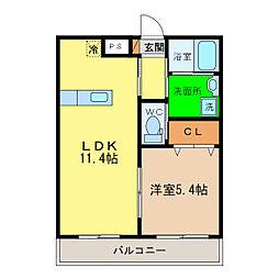 ピース・スクエア沖浜大木[1階]の間取り