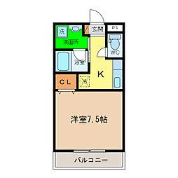 ピース・スクエア沖浜大木[2階]の間取り