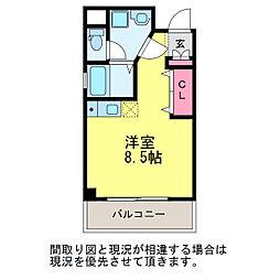 サンシャルム万代[5階]の間取り