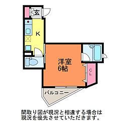 サンシャルム万代[4階]の間取り