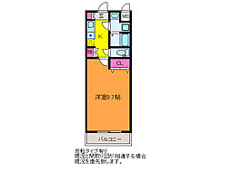 ボナール浜松WEST[1階]の間取り