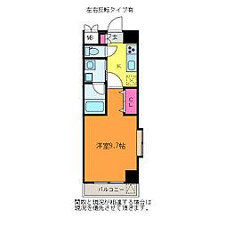 ファーストクラス柳都大橋[5階]の間取り