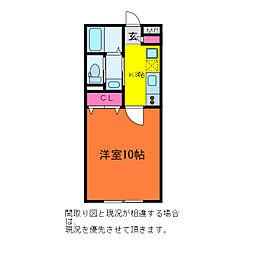GEO関屋大川前[1階]の間取り