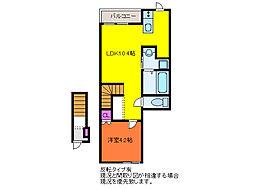ベル・ヴェール田中町 B棟[2階]の間取り