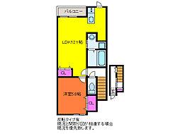 ベル・ヴェール田中町 B棟[3階]の間取り