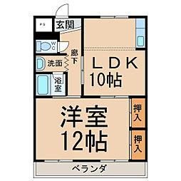 ハイツ久郷[1階]の間取り