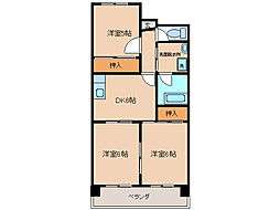 第2サンヨーマンション[5階]の間取り