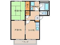 ボナール藤島[2階]の間取り