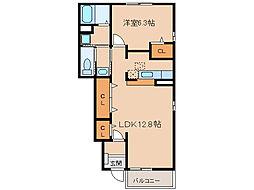 ユースハイムIII[1階]の間取り