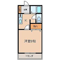 サン・friendsF岩崎[1階]の間取り