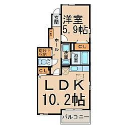 パストラル・デュオI・II[1階]の間取り