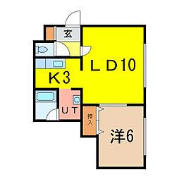 セ・シボン5[1階]の間取り