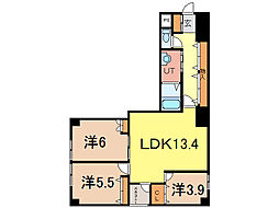 エンドレス17 A棟[6階]の間取り