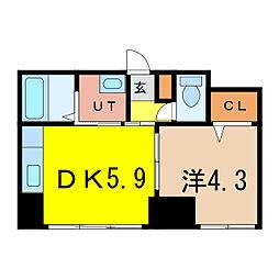 エンドレス17 A棟[4階]の間取り