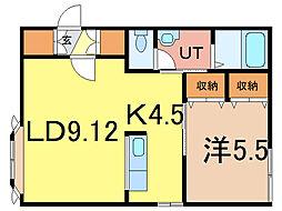 ティアラ1[2階]の間取り