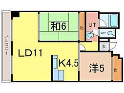 旭川キタノマンション[5階]の間取り