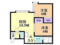アビタシオン旭川[1階]の間取り