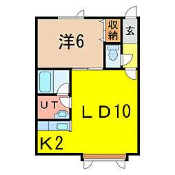 ルージュ4・5[1階]の間取り